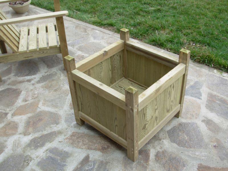 les jardini res en bois autoclav. Black Bedroom Furniture Sets. Home Design Ideas