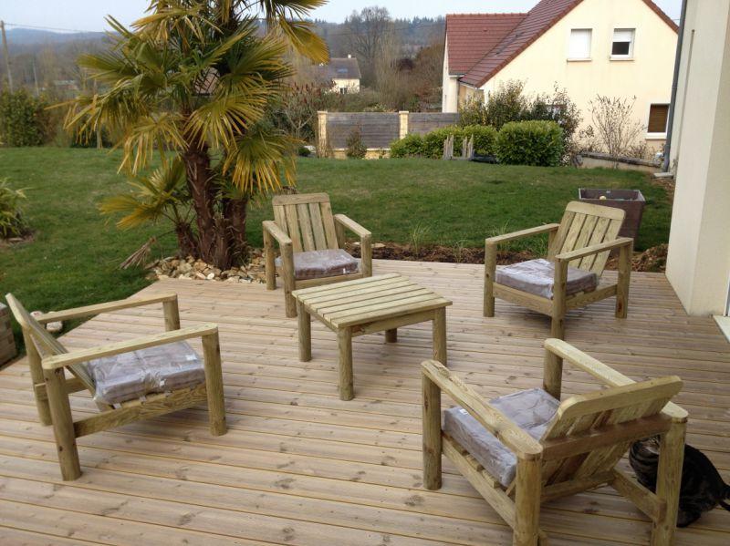 Salon de terrasse nouveau de salon jardin pvc solde frais for Solde plante exterieur