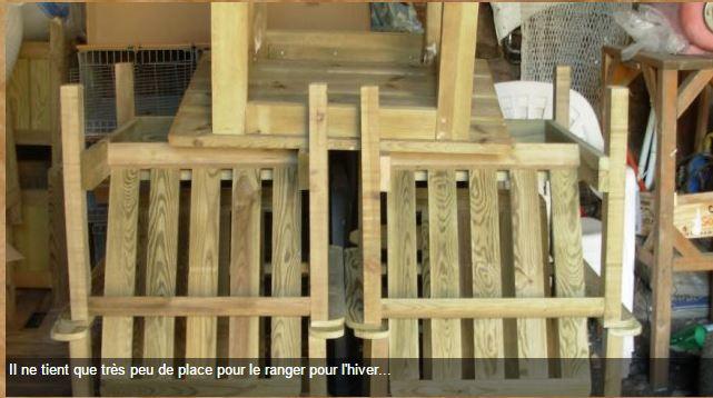 Les salons de jardin en bois autoclavé