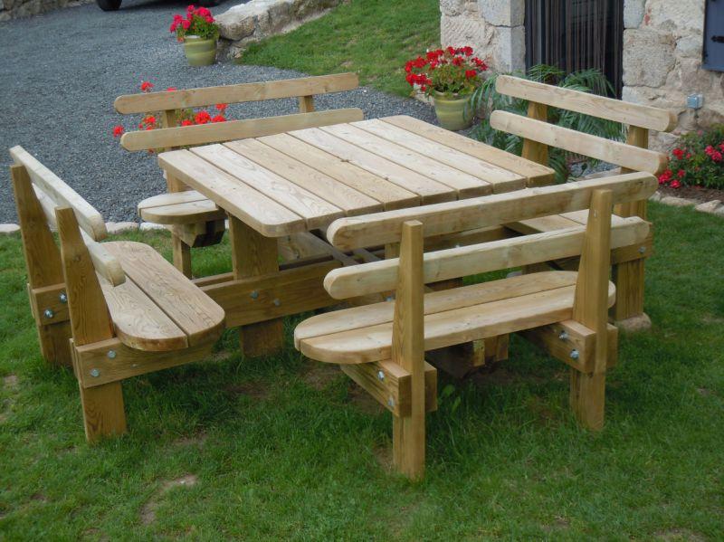 Table de pique-nique en bois autoclavé