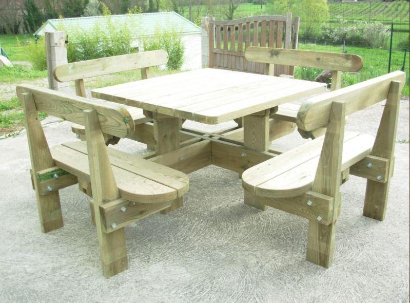Table De Pique Nique En Bois Autoclavé